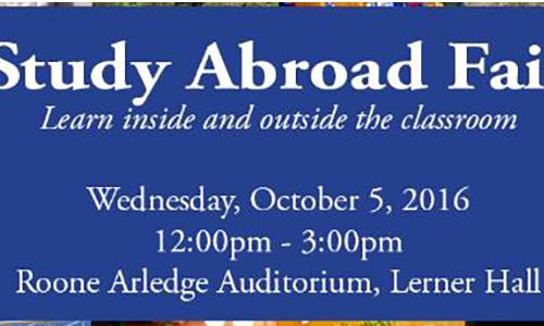 2016 Study Abroad Fair poster